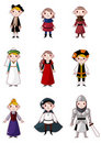Cartoon medieval people Royalty Free Stock Image