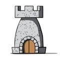 Cartoon medieval tower. Vector illustration