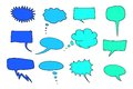 Cartoon message communication speech bubbles set chat and thought illustration collection Royalty Free Stock Photo