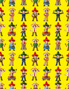 Cartoon Mexican music band -seamless pattern Royalty Free Stock Image