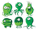 Cartoon microbes and bacteria Royalty Free Stock Photo