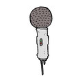 Cartoon microphone hand drawn illustration in retro style vector available Royalty Free Stock Photo