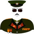 Cartoon militarist uniform of an abstract Stock Photo