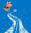 Cartoon milky way Royalty Free Stock Photo