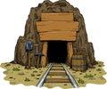 Cartoon mine Royalty Free Stock Photo