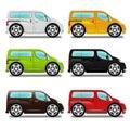 Cartoon minivan with big wheels.