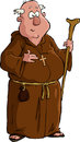 Cartoon monk Stock Photo