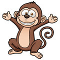 Cartoon monkey vector illustration of Royalty Free Stock Images