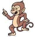 Cartoon monkey vector illustration of Stock Photo