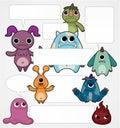 Cartoon monster card Royalty Free Stock Photos