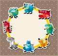 Cartoon monster card Stock Photos