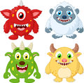 Cartoon monster collection set Royalty Free Stock Photo
