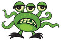 Cartoon monster cute green on white Stock Images