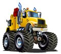Cartoon Monster Tow Truck Royalty Free Stock Photo