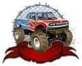 Cartoon monster truck vector available eps vector format separated by groups and layers for easy edit Royalty Free Stock Photography
