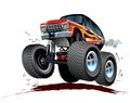 Cartoon monster truck vector available eps vector format separated by groups and layers for easy edit Royalty Free Stock Image