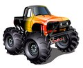 Cartoon monster truck vector available eps vector format separated by groups and layers for easy edit Stock Photo