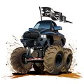 Cartoon monster truck vector buggy available eps vector format separated by groups and layers for easy edit Stock Photography