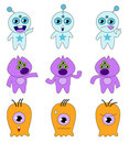 Cartoon Monsters Clipart Stock Images