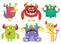Cartoon Monsters collection. Vector set of cartoon monsters isolated. Ghost, troll, gremlin, goblin, devil and monster.