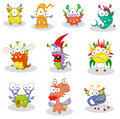 Cartoon monsters, goblins, ghosts Stock Images