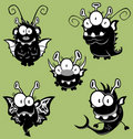 Cartoon monsters, goblins, ghosts Royalty Free Stock Image