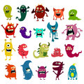 Cartoon monsters set. Colorful toy cute monster. Vector
