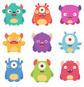 Cartoon Monsters Royalty Free Stock Photo
