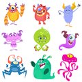 Cartoon Monsters. Vector set of cartoon monsters isolated Royalty Free Stock Photo