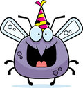 Cartoon mosquito birthday party a illustration of a with a hat looking happy Royalty Free Stock Photography
