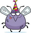 Cartoon mosquito drunk party a illustration of a with a hat looking Royalty Free Stock Photography