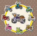 Cartoon motorcycle card Stock Images