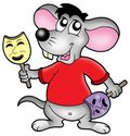 Cartoon mouse actor Stock Photography