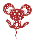 Cartoon mouse paper cut Royalty Free Stock Photo