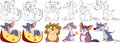 Cartoon mouse set