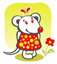 Cartoon mousy Royalty Free Stock Photos