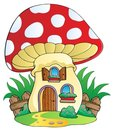 Cartoon mushroom house Royalty Free Stock Photos