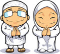 Cartoon of Muslim Man & Woman Stock Image