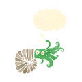 Cartoon nautilus squid Royalty Free Stock Image