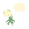 Cartoon nautilus squid with thought bubble Royalty Free Stock Photos
