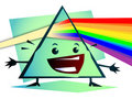 Cartoon Newton prism with rainbow Royalty Free Stock Photos