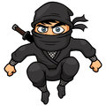 Cartoon ninja vector illustration of Royalty Free Stock Photo