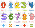 Cartoon Numbers Characters Royalty Free Stock Photo
