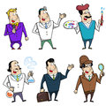 Cartoon occupation people set vector Stock Photography