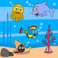 Cartoon Ocean Life [1] Stock Images