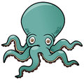 Cartoon octopus vector illustration of Royalty Free Stock Photo