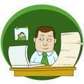 stock image of  Cartoon office man