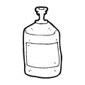 Cartoon old squirt bottle black and white line in retro style vector available Royalty Free Stock Photo