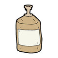 Cartoon old squirt bottle hand drawn illustration in retro style vector available Stock Photos