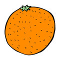 Cartoon orange hand drawn illustration in retro style vector available Royalty Free Stock Image